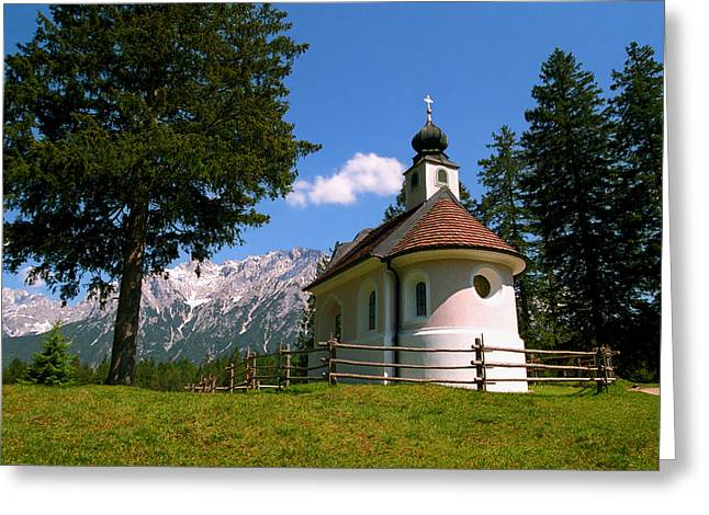 Kevin Smith Greeting Cards - Chapel at Lautersee Greeting Card by Kevin Smith