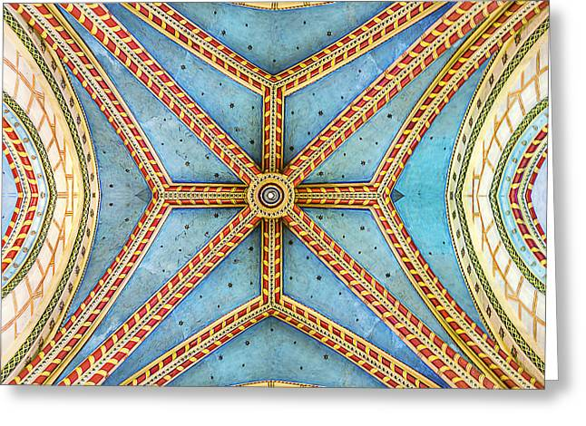 Historic Architecture Greeting Cards - Chapel Ceiling Greeting Card by Maria Coulson