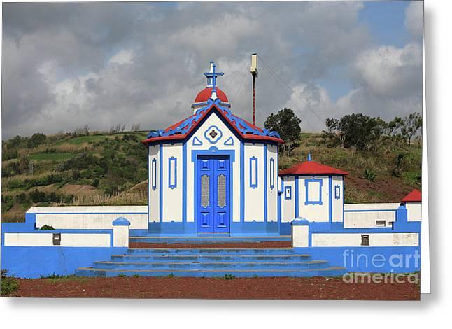 Chapel In Agua De Pau - Azores Greeting Card by Gaspar Avila