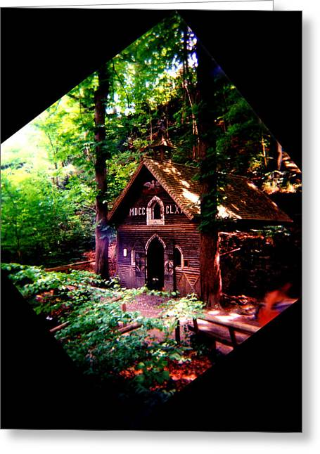 Log Cabins Greeting Cards - Chapel in the Woods Greeting Card by Kevin Smith