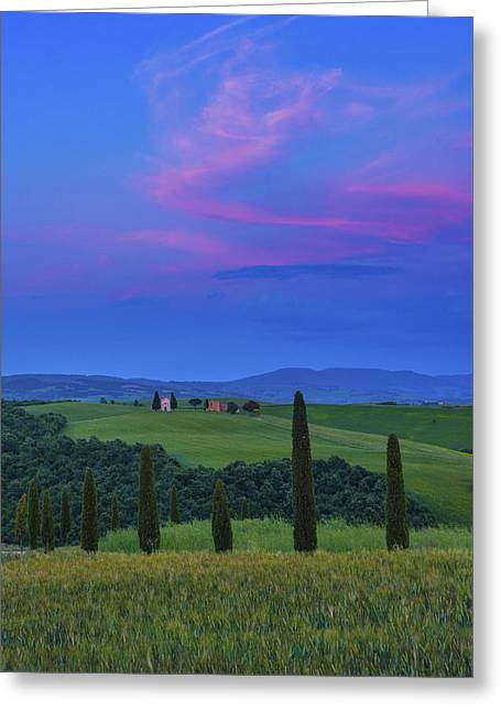 Siena Chapel Greeting Cards - Chapel of Our Lady of Vitaleta Greeting Card by Christian Heeb