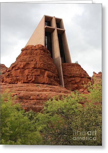 Arizona Landmark Greeting Cards - Chapel of the Holy Cross Greeting Card by Carol Groenen
