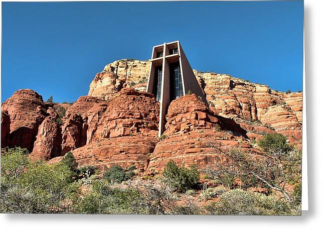 Religion Greeting Cards - Chapel of the Holy Cross Greeting Card by Judy Vincent