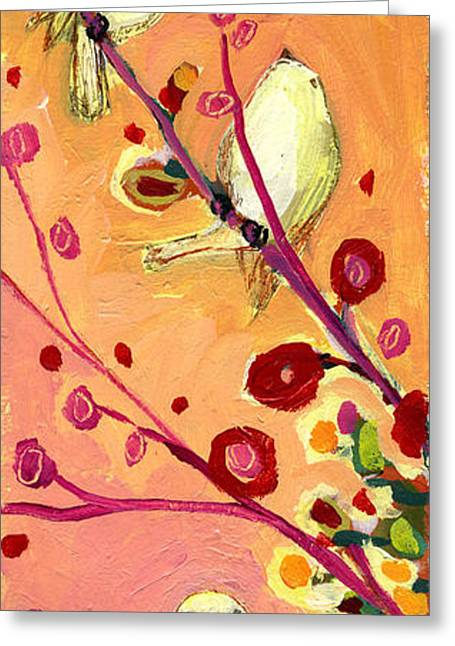 Sparrow Paintings Greeting Cards - Chaperoning Greeting Card by Jennifer Lommers
