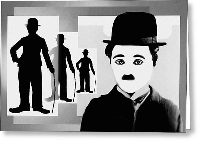 Chaplin, Charlie Chaplin Greeting Card by Hartmut Jager