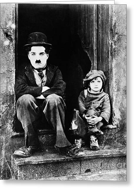 Chaplin: The Kid, 1921 Greeting Card by Granger