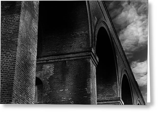 Low Light Greeting Cards - Chappel Viaduct Greeting Card by Martin Newman