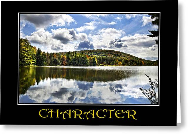 Motivational Poster Greeting Cards - Character Inspirational Motivational Poster Art Greeting Card by Christina Rollo