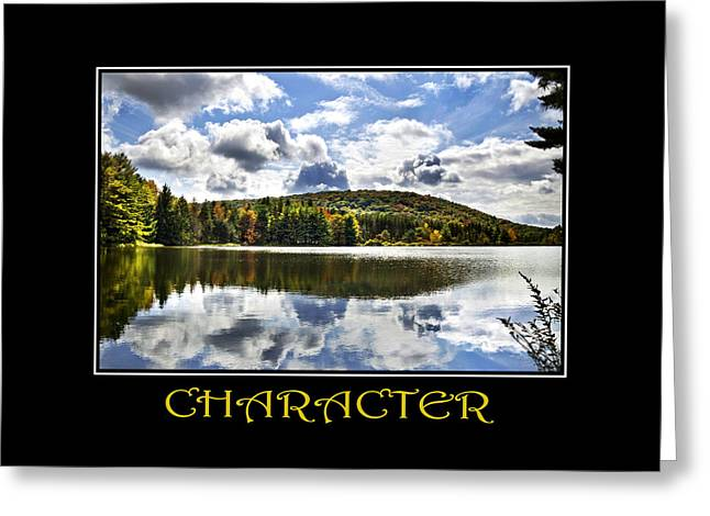 Character Inspirational Motivational Poster Art Greeting Card by Christina Rollo