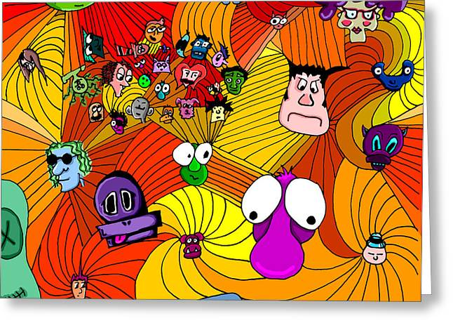 Wonderous Greeting Cards - Characters in color Greeting Card by Jera Sky