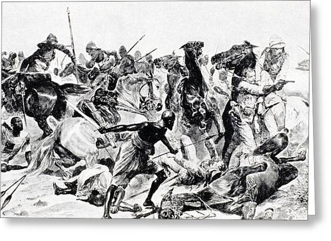21st Greeting Cards - Charge Of The 21st Lancers At Omdurman Greeting Card by Vintage Design Pics