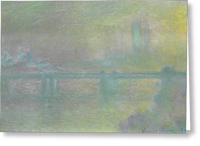 Charing Cross Bridge, London Greeting Card by Claude Monet