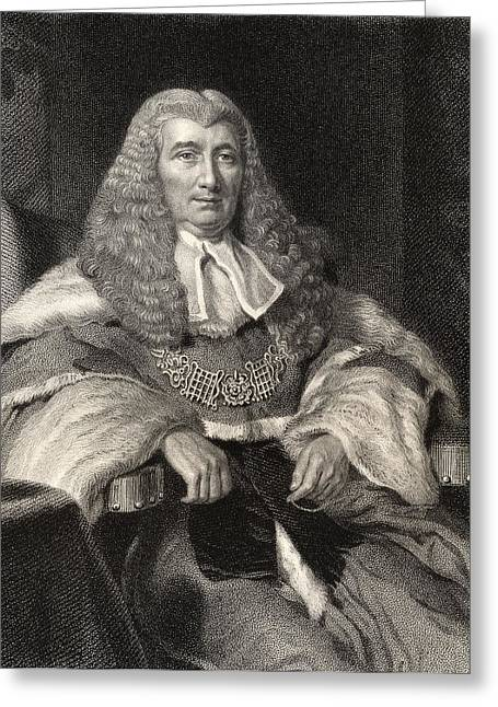 Chief Justice Drawings Greeting Cards - Charles Abbott 1st Baron Tenterden 1762 Greeting Card by Vintage Design Pics