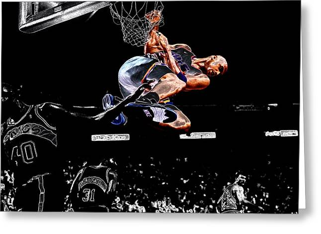 Shawn Kemp Greeting Cards - Charles Barkley Hanging Around II Greeting Card by Brian Reaves