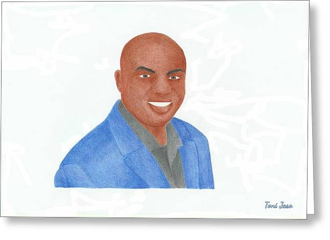 Charles Barkley Greeting Cards - Charles Barkley  Greeting Card by Toni Jaso