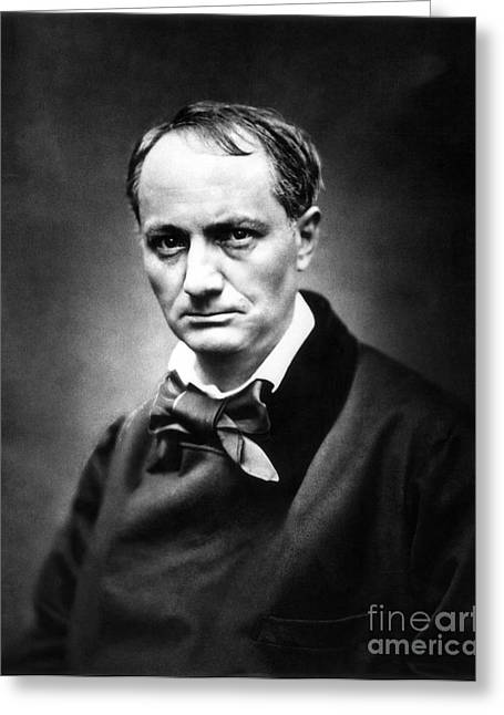 Bowtie Photographs Greeting Cards - Charles Baudelaire Greeting Card by Granger