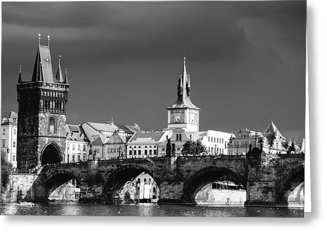 Charles Bridge Prague Czech Republic Greeting Card by Matthias Hauser