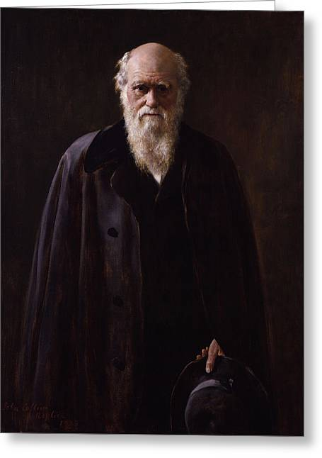 Charles Darwin - By John Collier Greeting Card by War Is Hell Store