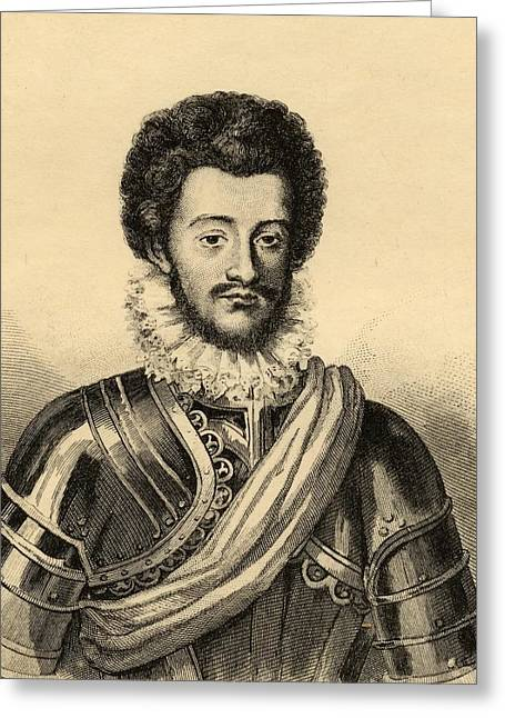 Guise Greeting Cards - Charles De Guise, Duc De Mayenne Greeting Card by Ken Welsh