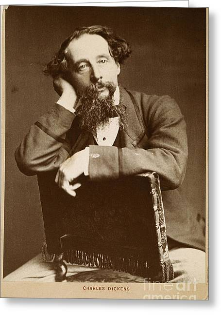 1860 Greeting Cards - Charles Dickens Greeting Card by Granger