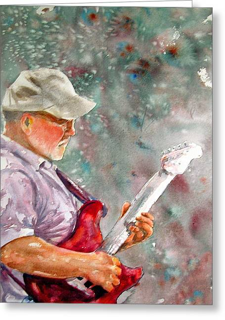 Player Greeting Cards - Charles Electric Greeting Card by Shirley Sykes Bracken