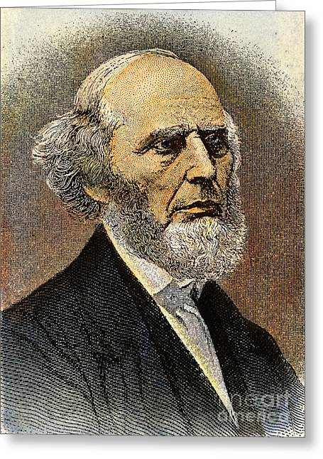 Sideburns Photographs Greeting Cards - Charles Grandison Finney Greeting Card by Granger