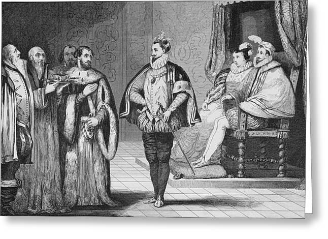 Elect Greeting Cards - Charles Ix 1550 To 1574 Is Told By The Greeting Card by Vintage Design Pics