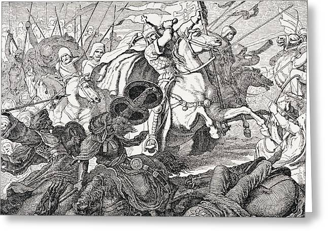 Charles Martel Greeting Card by French School