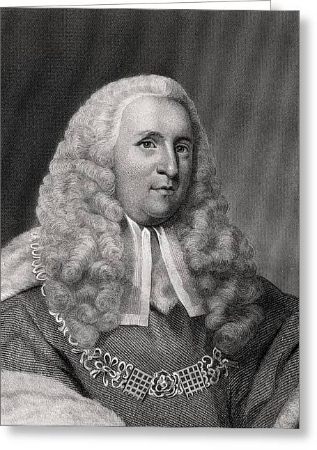 Chancellor Drawings Greeting Cards - Charles Pratt 1st Earl Camden 1714 Greeting Card by Ken Welsh