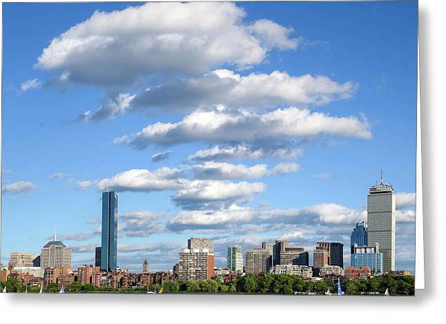 Charles River Cloud Stack Boston Ma Greeting Card by Toby McGuire