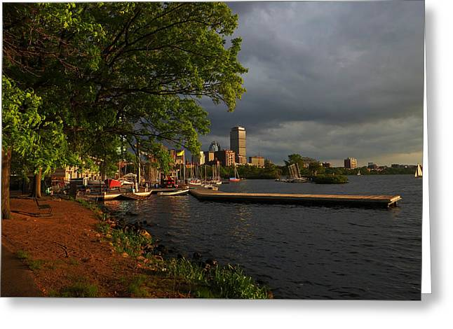 Charles River Greeting Cards - Charles River Community Boating Boat House Boston Greeting Card by Toby McGuire