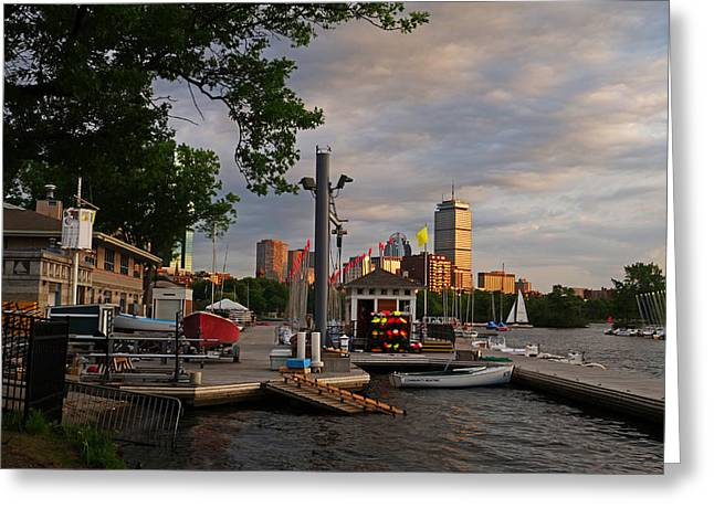 Charles River Greeting Cards - Charles River Community Boating Boat House Greeting Card by Toby McGuire