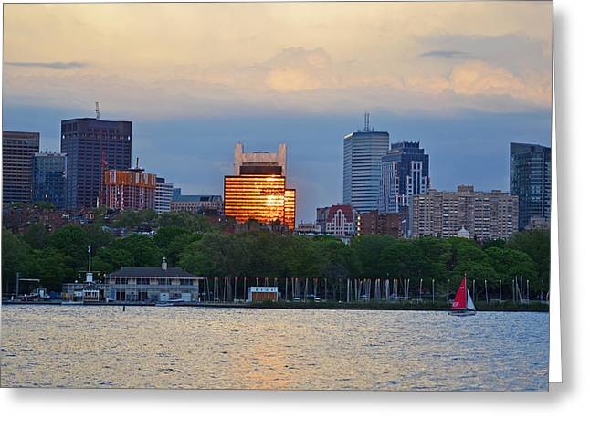 Charles River Greeting Cards - Charles River Community Boating Greeting Card by Toby McGuire