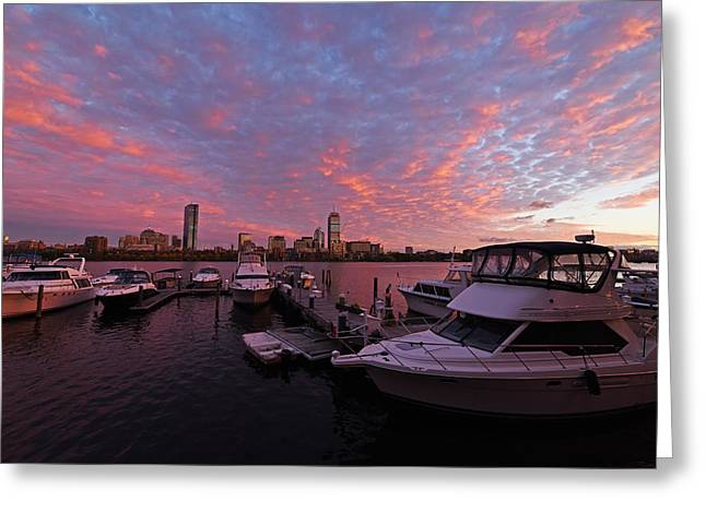Boston Ma Greeting Cards - Charles River Sunset Boston MA Greeting Card by Toby McGuire