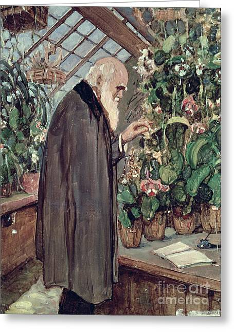 Nature Study Greeting Cards - Charles Robert Darwin Greeting Card by John Collier
