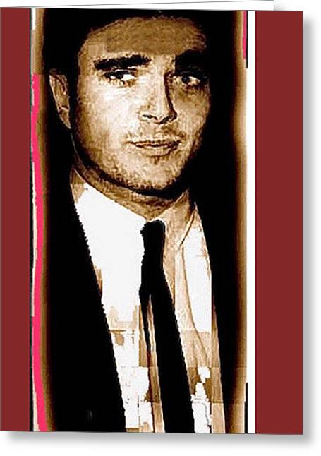 Charles Smitty Schmid Out Of Makeup Tucson Arizona 1966-2008 Greeting Card by David Lee Guss