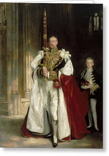 Royalty Greeting Cards - Charles Stewart Sixth Marquess of Londonderry Greeting Card by John Singer Sargent