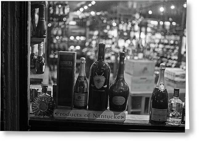 Charles Street Boston Ma Wine In The Window Greeting Card by Toby McGuire