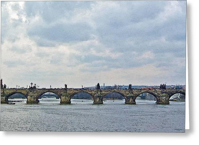 Vltava Digital Greeting Cards - Charles Street Bridge Greeting Card by Paul Pobiak