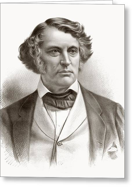 Antislavery Drawings Greeting Cards - Charles Sumner, 1811 Greeting Card by Vintage Design Pics