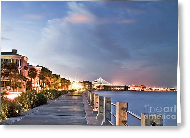 South Carolina Greeting Cards - Charleston Battery Photography Greeting Card by Dustin K Ryan