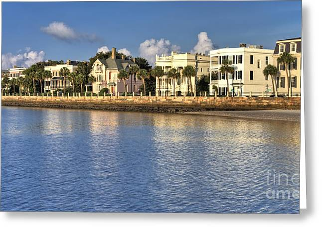 Home Greeting Cards - Charleston Battery Row South Carolina  Greeting Card by Dustin K Ryan