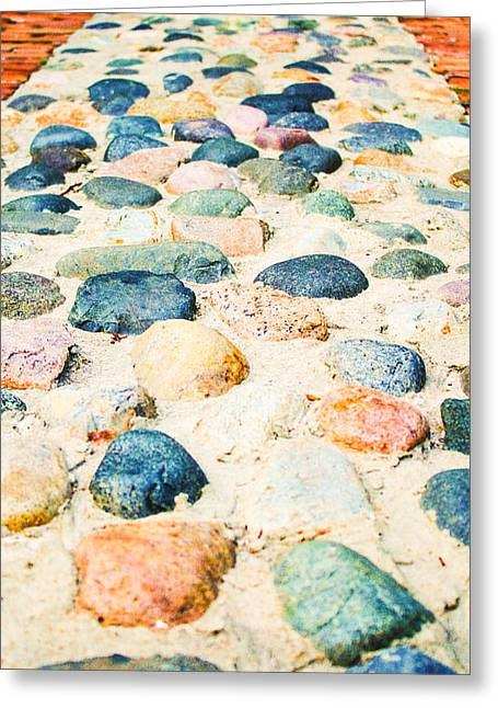 Charleston Pathway Greeting Cards - Charleston Cobble 2 Greeting Card by Stacey Rosebrock