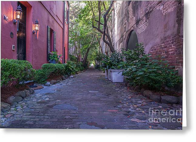 Philadelphia Alley Greeting Cards - Charleston Duelers Alley Greeting Card by Dale Powell