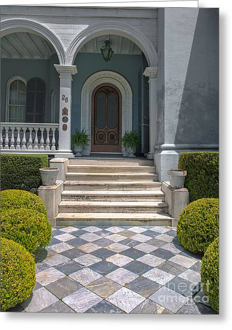 Major Award Greeting Cards - Charleston Grand Entrance Greeting Card by Dale Powell