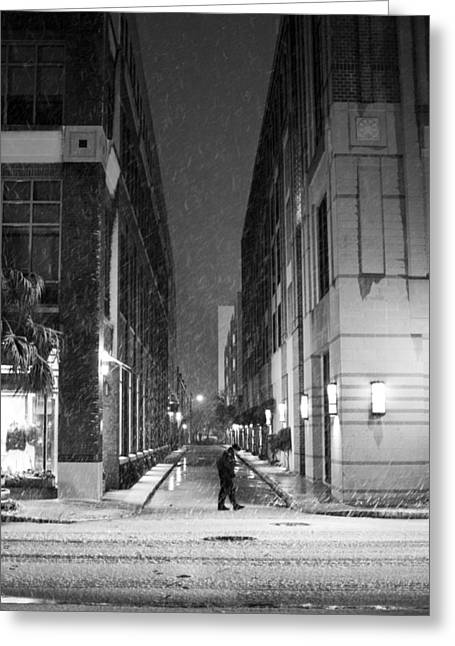 Vanishing Greeting Cards - Charleston SC Snow Vanishing Point Greeting Card by Dustin K Ryan