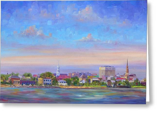 Charleston Greeting Cards - Charleston Skyline Greeting Card by Jeff Pittman