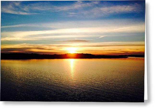 James Pyrography Greeting Cards - Charleston sunset 3 Greeting Card by Mary Caruso
