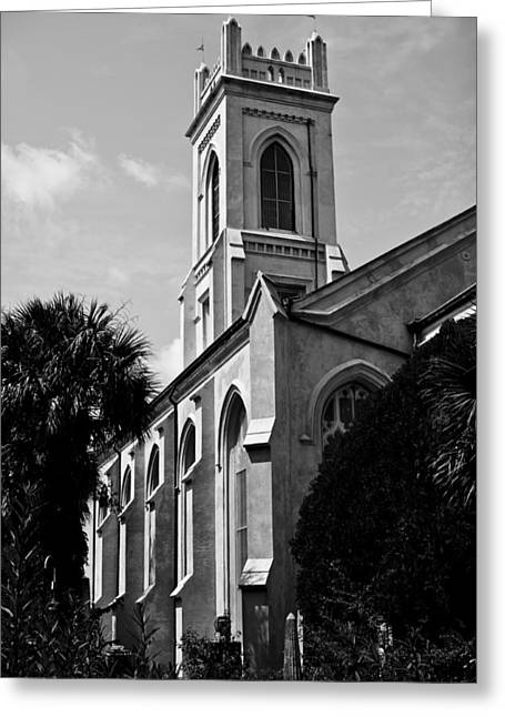 Steeples Greeting Cards - Charleston Unitarian Church Greeting Card by Dustin K Ryan