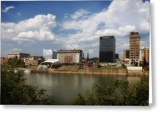 Outdoor Theater Photographs Greeting Cards - Charleston West Virginia Waterfront Greeting Card by Mountain Dreams